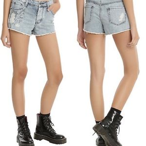 Hot Topic Black Heart Doodle High Waisted Shorts